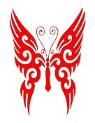 Tribal Butterfly v17 Decal Sticker