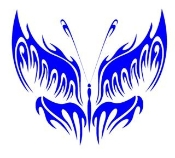 Tribal Butterfly v25 Decal Sticker