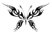 Tribal Butterfly v27 Decal Sticker