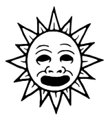 Sun with Face v1 Decal Sticker