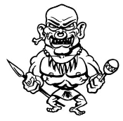 Monster Troll v1 Decal Sticker