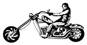 Man on Chopper v1 Decal Sticker
