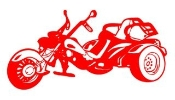 Trike Motorcycle Decal Sticker