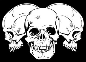 3 Skulls v2 Decal Sticker