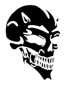 Demon Skull v1 Decal Sticker