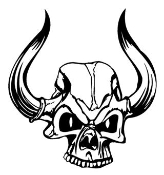 Demon Skull v2 Decal Sticker