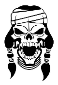 Indian Skull v2 Decal Sticker