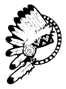 Indian Head Dress Decal Sticker