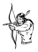 Warrior with Bow and Arrow v2 Decal Sticker