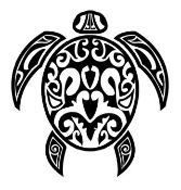 Tribal Turtle v2 Decal Sticker