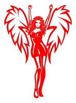 Angel Girl v2 Decal Sticker
