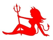 Devil Girl v3 Decal Sticker