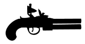 Old Pistol Silhouette v2 Decal Sticker