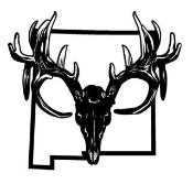 New Mexico Deer Skull Decal Sticker