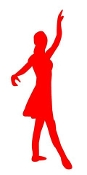 Dancer Silhouette v16 Decal Sticker