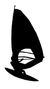 Windsurfer Silhouette v4 Decal Sticker