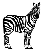 Zebra 2 Decal Sticker