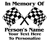 Racing Memorial Decal Sticker