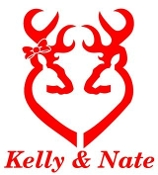 Personalized Deer Heart Design v7 Decal Sticker