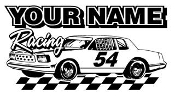 Personalized Hobby Stock Racing v1 Decal Sticker