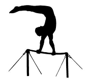 Gymnastics High Bar Decal Sticker