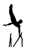 Gymnastics Parallel Bars Decal Sticker