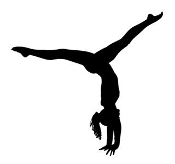 Gymnastics Tumbling Decal Sticker