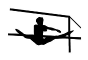 Gymnastics Uneven Bars Decal Sticker