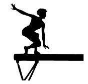 Gymnastics Balance Beam Decal Sticker