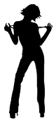 Girl Posing v7 Silhouette Decal Sticker