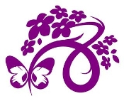 Floral Design with Butterfly v5 Decal Sticker