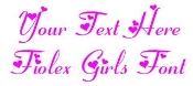 Fiolex Girls Font Decal Sticker