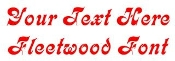 Fleetwood Font Decal Sticker