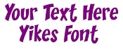 Yikes Font Decal Sticker