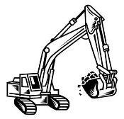 Excavator v2 Decal Sticker