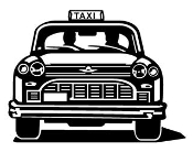 Taxi Cab Decal Sticker