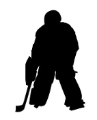 Hockey Goalie Silhouette Decal Sticker