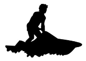 Jet Ski Silhouette Decal Sticker