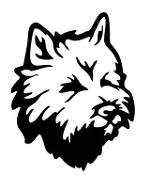 Cairn Terrier Head Decal Sticker