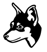 Manchester Terrier Head Decal Sticker
