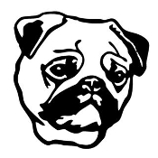 Pug Head v2 Decal Sticker