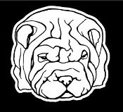 Shar-Pei Head Decal Sticker