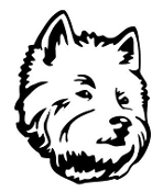 Westhighland Terrier Head Decal Sticker