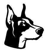Doberman Head v2 Decal Sticker