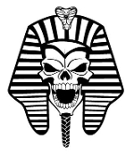 Pharaoh Skull Decal Sticker