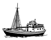 Fishing Trawler Decal Sticker