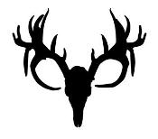 Deer Skull Silhouette Decal Sticker