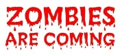 Zombie Are Coming Decal Sticker
