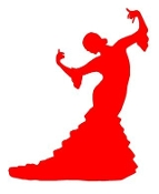 Flamenco Dancer Woman v1 Decal Sticker