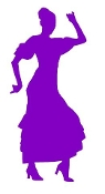 Flamenco Dancer Woman v4 Decal Sticker